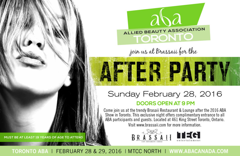 ABA Hair Show 2016 After Party Flyer